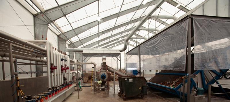 Dentro de una Instalación de producción de Biometano en Oregón