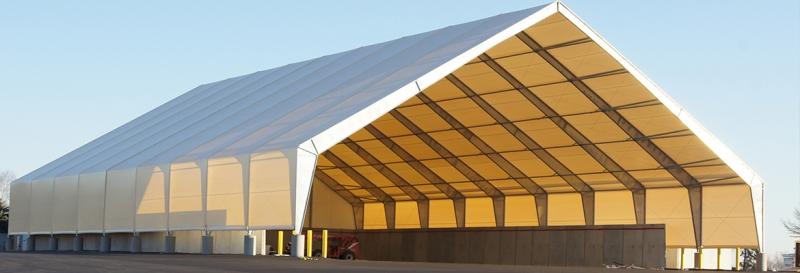 Una instalación de almacenamiento de arena municipal