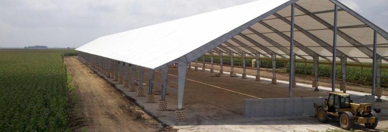 Tensoestructura para ganaderia y agricultura