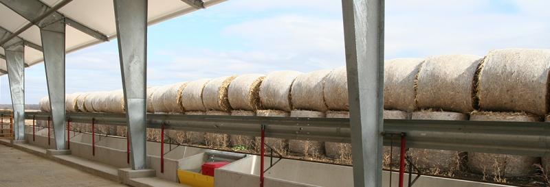 Tensoestructura para almacenamiento de heno para ganado