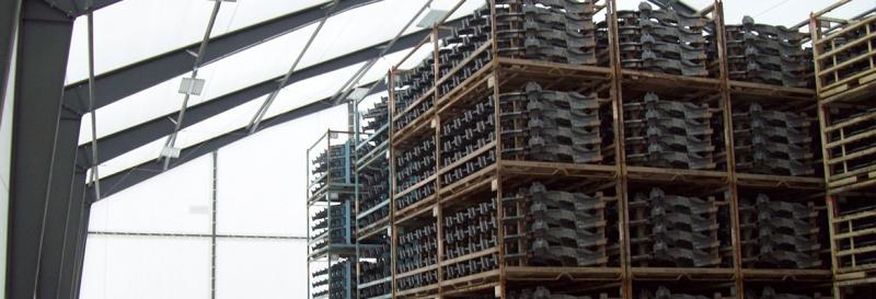 Tensoestructura con marcos de acero rigido de grandes alturas
