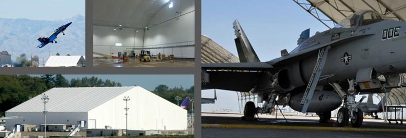 TFS aircraft hangar warehouse plane military base