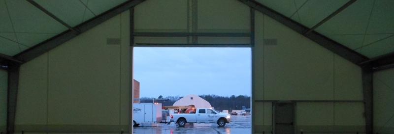 fabric hangar overhead door truck trailer