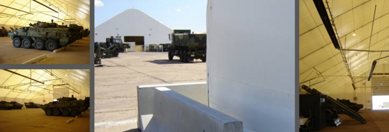 tension membrane structure military wheeled vehicles tank lined fabric building