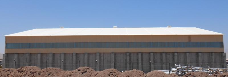 Tensoestructura personalizada para mineria y cimentacion de concreto