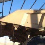 Diseño de luz libre deja espacio para equipos de minería de gran tamaño.