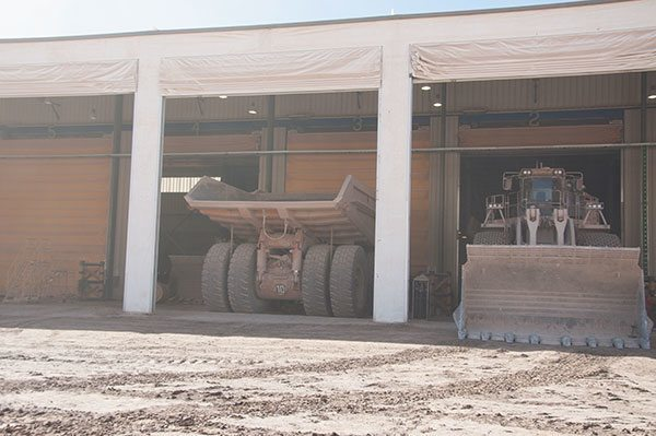 Lomas-Bayas-mining-truck-shelter
