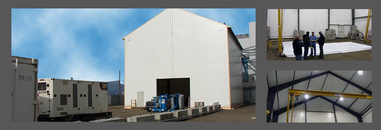 Edificio de Tela en Tensión de Cambio y Remediación de Resina