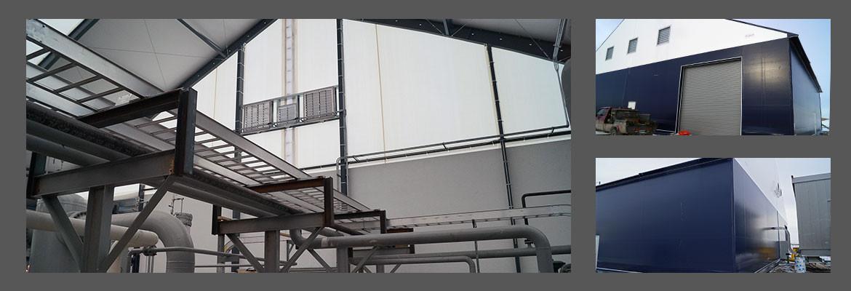 Edificio de Tela en Tensión para Procesar Gas Natural Licuado