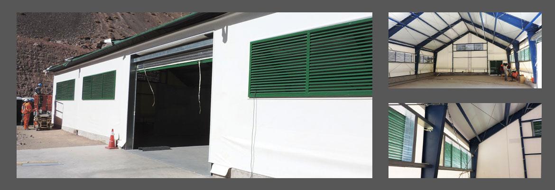 Edificio de Tela en Tensión para almacenaje de Explosivos